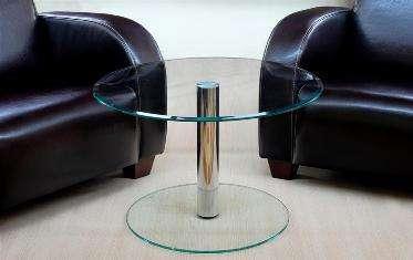 Beistelltisch tisch couchtisch chrom kaffetisch klein rund for Beistelltisch glas chrom rund