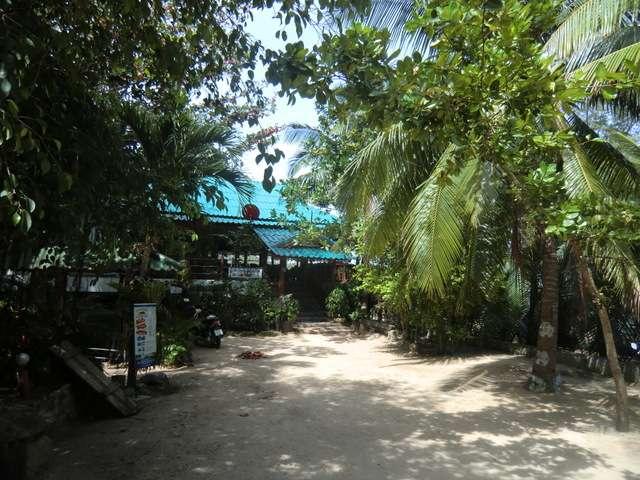der Eingang zum Resort