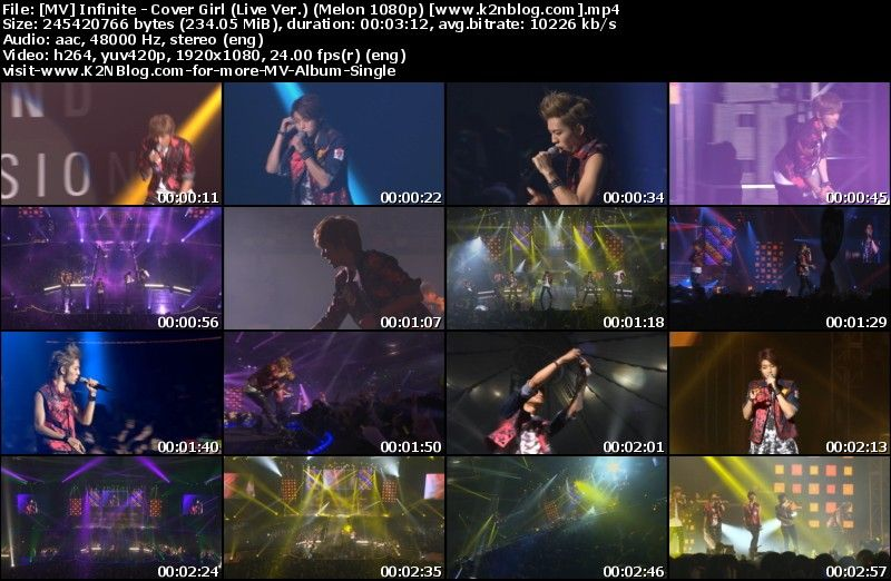 [MV] Infinite - Cover Girl (Live Ver.) [Melon HD 1080p]