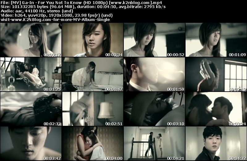 [MV] Ga-In - For You Not To Know (HD 1080p Youtube)