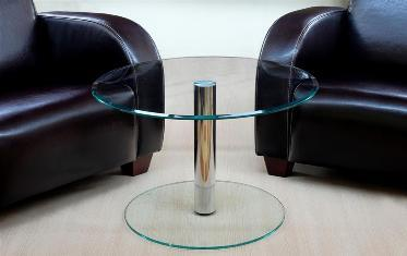 beistelltisch tisch couchtisch chrom kaffetisch klein rund. Black Bedroom Furniture Sets. Home Design Ideas